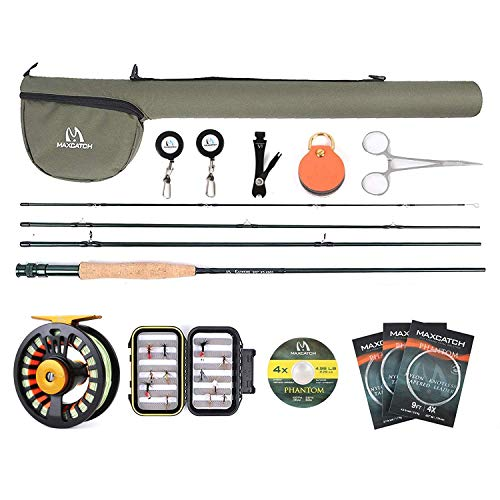 MAXIMUMCATCH Maxcatch Extreme Fly Fishing Combo Kit 5/6/7/8 Weight, Starter Fly Rod and Reel Outfit,...