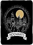 Harry Potter Moonrise Blanket - Measures 60 x 90 inches, Kids Bedding Features Hogwarts - Fade Resistant Super Soft Fleece (Official Harry Potter Product)