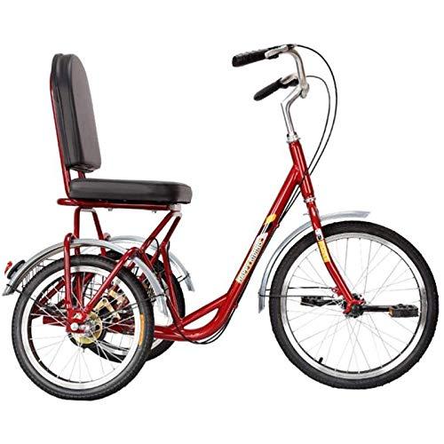 Triciclo per Adulti Tricicli Adulti Adult Tricycle Biciclette a tre ruote con cesto, 3 ruote Bike An Seniors Adulto An Seniors Cruiser Bici Biciclette a tre ruote per le donne Men Bin Beginner Anti-Ro