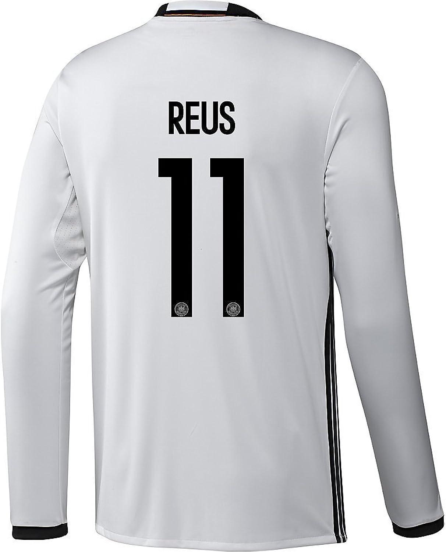 Adidas Reus  11 Germany Home Soccer Jersey Euro 2016 Long Sleeve