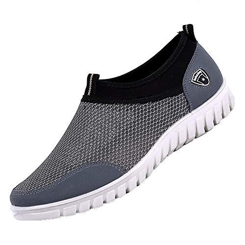 ALIKEEY Scarpe Casual da Uomo Sneakers in Mesh Traspiranti E Comode Scarpe Mocassini Calzature