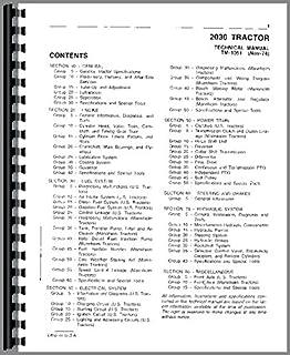 John Deere 2030 - Manual de servicio para tractor