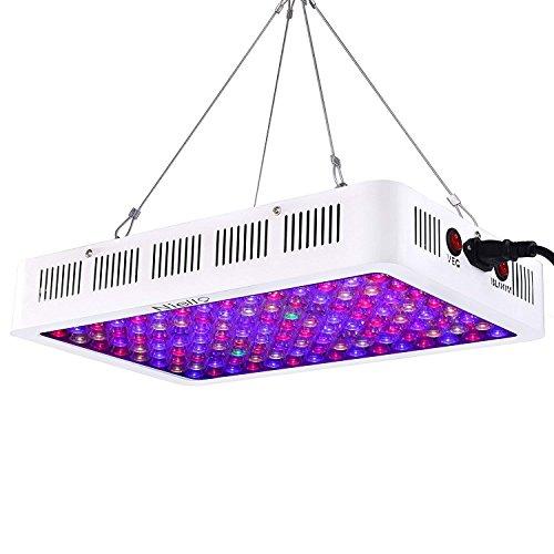 Niello Lampara de Cultivo 600w, luz de Crecimiento LED de la Serie de Lentes ópticas, luz de Planta de Espectro Completo con IR UV para Plantas de Interior Veg y Bloom