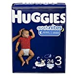 HUGGIES OverNites Diapers, Size 3, 24 ct., Overnight Diapers (Packaging May Vary)