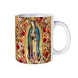 Taza de cerámica para café/té, regalo de Nuestra Señora de Guadalupe Virgen María Católica México, tazas de café novedad taza de té blanco 325 ml