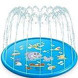 DUNLIN Niños Al Aire Libre Juguetes Divertidos Niños Inflable Agua Redondo Salpicaduras Juegos De Juego Tocando Sprinkler Estera Patio Agua Almohadilla (Color : 170cm)