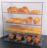 Four Shelf Bakery Display Case for Donuts, Bread, and Pastries (20 inches Wide X 21 inches high X 10 inches deep)