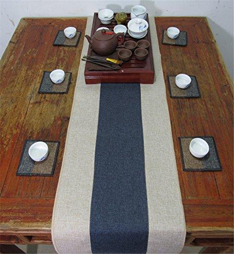 Sucastle® 35x210cm tissu Chemin de Table Cuisine Imperméable Décoration en Aspect naturel