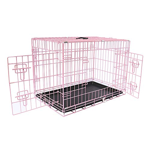 Greenbay Dog Puppy Cage Pet Crate Training Travel Carrier 2 Doors Metal...
