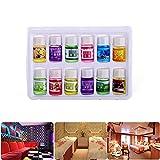 Jiudong Juego de 12 Aceites Esenciales de Alta Calidad-12 Aceites Esenciales de Aromaterapia Orgánica 12 para Difusor Y Humidificador