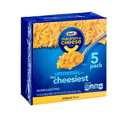 Kraft Mac amp Cheese 725oz Pack of 5