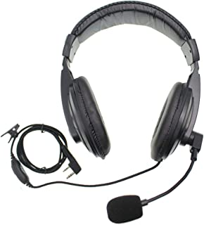 Noise cancell Handsfree Over Ear Two Way Radios Headphones PTT and Vox Headset with Soft Earmuffs Earphone