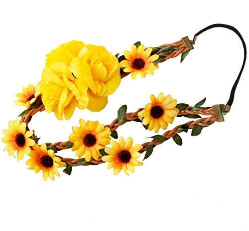 Longra Dames hoofdketting van kant, hoofdband voor vrouwen, haarspeldje, bloemen, bruiloft, speciale gelegenheid, haaraccessoires