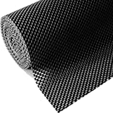 Shelf Liner, Non-Adhesive Roll Drawer Liners 12 Inches x 20 Feet for Drawers, Non Slip Grip Durable Strong Clean, for Cabinets, Kitchen, Storage, Desks, Kitchenware, Tableware, Black