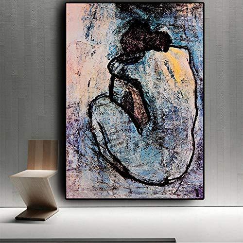 Guokaixyz Maison Rouge olieverfschilderij op canvas poster en prints muurschildering voor woonkamer decoratie zonder lijst 40x60cm 1