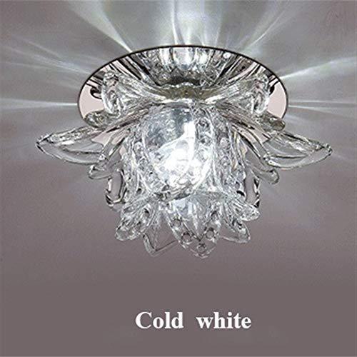 XF Kleurrijke LED Lotus kristallen plafondlamp licht spotlicht voor Corridors balkons halways creatieve plafonnier lamp