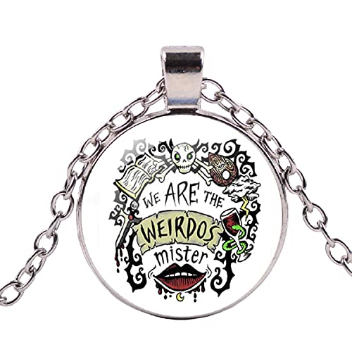 Punk We Are The Weirdos Mister - Collar con colgante de corazón con estrella gótica y gato de cristal negro para mujer