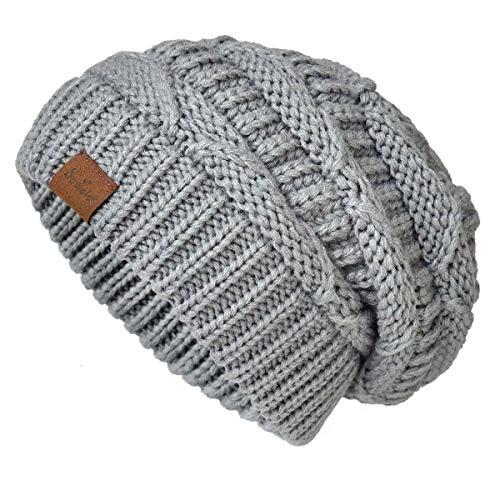 Somaler Knit Beanie Hat for Women Oversize Chunky Winter Slouchy Beanie Hats Ski...