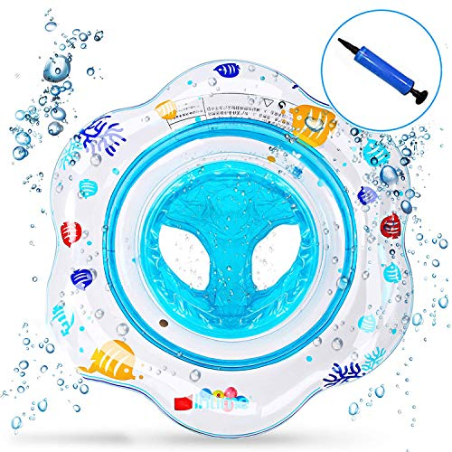 Flotador bebé, Piscina Hinchables Niños Flotadores para Bebe con Asiento Anillo de Natación para Bebés de 1-4 Años, Inflable Juguetes Regalos … (Azul)