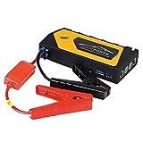 Qinuo Auto Starthilfe Akku Power Pack 600A, Jump Starter 18000mAh Power Bank mit LED Taschenlampe, LCD Monitor