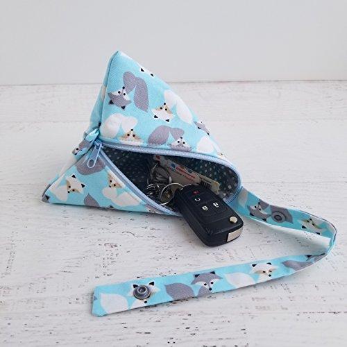 Blue Plush Pacifier Holder for Boys Fox Woodland Baby Shower Gift