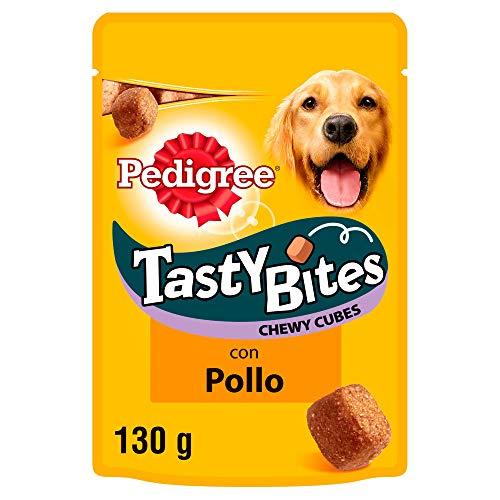 Tasty Bites Chewy Cubes carne y aves de 130g para educar | [Pack de 6] ✅