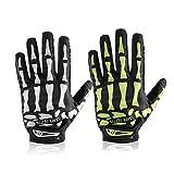 HobbyAnt - Guanti da moto a dita intere, con teschio di osso, per sport all'aria aperta, ciclismo, taglia M, colore bianco