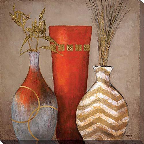 """Picture Perfect International Mia Casa a Portofino II by Tava Studios Print Canvas Art, 24"""" x 24"""" x 1"""", Brown"""