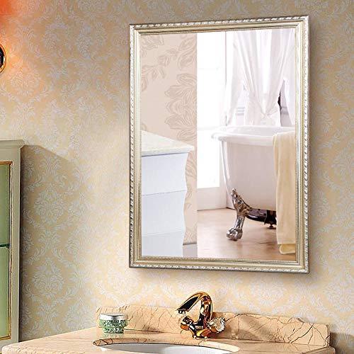 YBGW Standspiegel Groß Badezimmerspiegel Badezimmerspiegel Schminkspiegel An Der Wand Montierter Wand-Waschtisch Mit Explosionsgeschütztem Rahmen