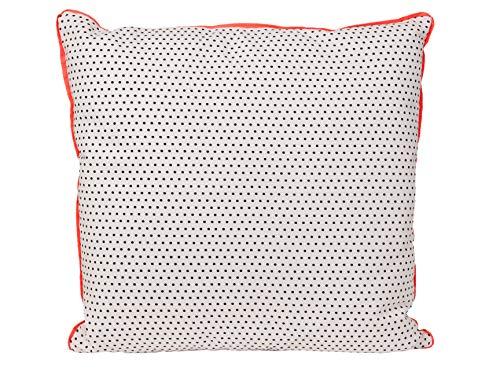 pt, Coussin Dots, Coton, Gris, 45 x 45 x 7 cm