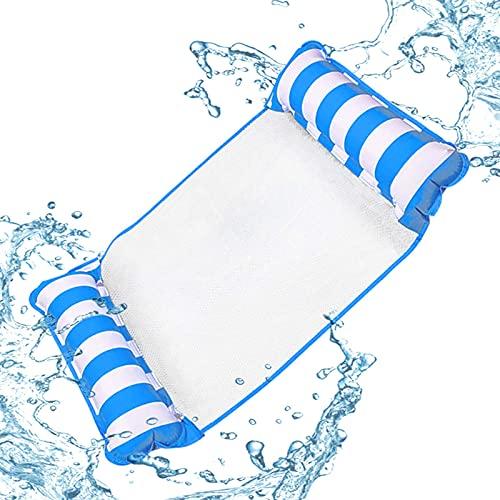 Hamaca de Agua Inflable, Piscina Playa Reclinable Flotante Hamaca Inflable Hamaca Flotante Silla de salón Drifter Piscina Playa Flotador para Azules-Azul BJY969 ( Color : Blue )