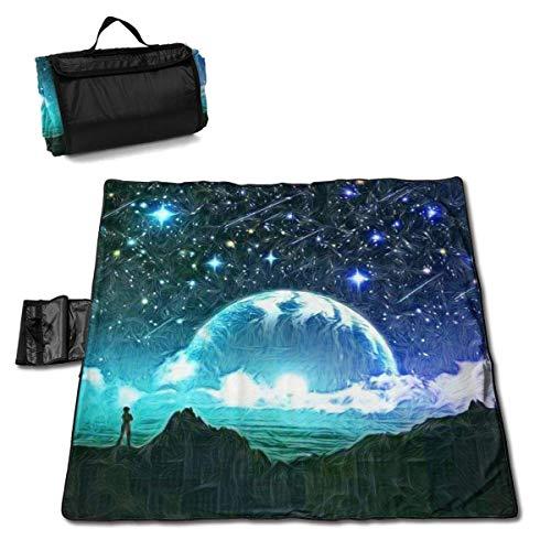 Grande Couverture de Pique-Nique en Plein air Meteor Starry Sky Wishes Sandproof Beach Mat Fourre-Tout pour Camping Randonnée Herbe Voyager