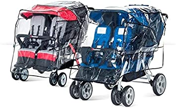 foundations quad stroller rain cover