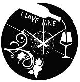 Instant Karma Clocks Enoteca - Reloj de Pared con Disco de Vinilo para Cerveza, Restaurante,...
