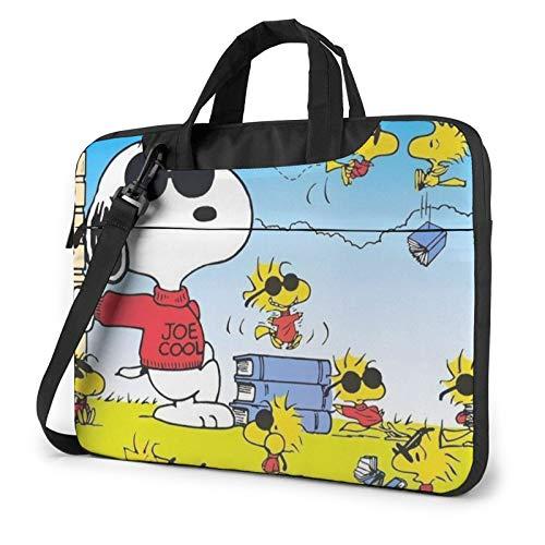 Cartoon Snoopy Laptop-Hülle / Messenger Bag Ultra Portable Schutz Schulter Tablet Notebook Computer Tragetasche Gr. 40 cm, Schwarz