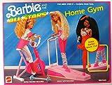 Barbie y el All Stars HOME GYM Playset w Ski Track, CYCLE & MÁS (1990 Arco Toys, Mattel)