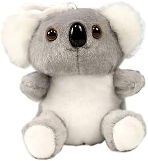 Clenp Monedero con diseño de mapache Koala de peluche con colgante de decoración para colgar