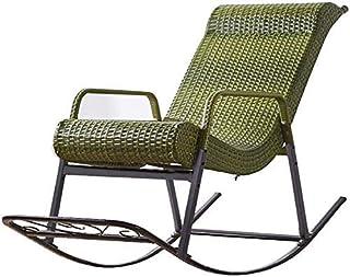 FTFTO Décoration de Vie Chaise de Loisirs en rotin/Chaise à Bascule Maximum 150 kg/Cour Chaise à Bascule Simple Design per...