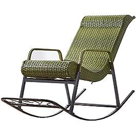 FTFTO Décoration de Vie Chaise de Loisirs en rotin/Chaise à Bascule Maximum 150 kg/Cour Chaise à Bascule Simple Design…