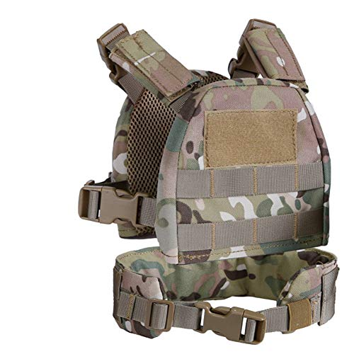 OAREA Outdoor Hunting Vests Kids Mini Airsoft Tactical Hunting Vest with Patrol Belt Molle Combat Vest XS/S for Kids 2-6 Years