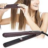 Piastra per capelli arbitrari, 60 W Display LCD 80-230 ℃ Attrezzo intrecciata per capelli in ABS (caffè)