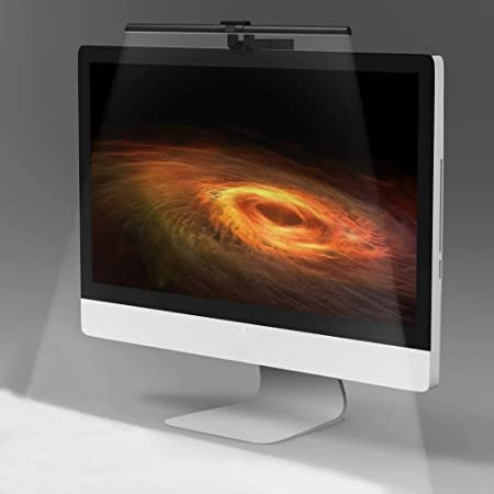 Quntis e-Reading LED Monitor Light Bar with No Screen Glare for Eye Caring, USB Powered Computer Monitor Lamp Save Desk Space, 3 Lighting Modes with 10 Brightness Levels Office Home Desk Lamp, Black