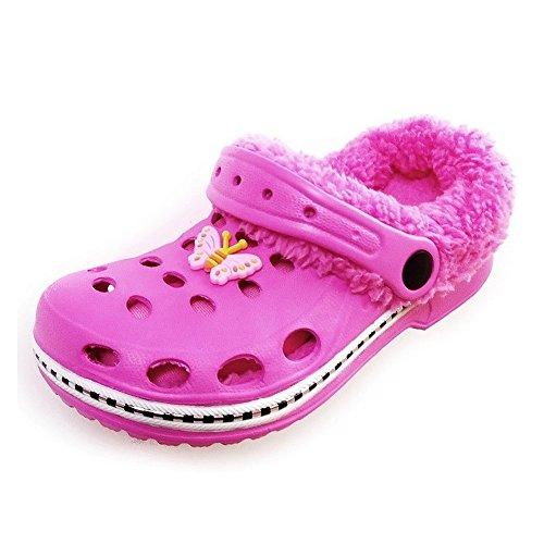 Magnus Kinder Clogs Hausschuhe Badeschuhe (20D) Badelatschen Pantoffel Pantoletten Schuhe 2 in 1 Pink, Größe 24/25