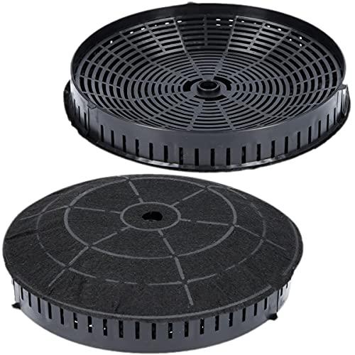 2x Aktivkohlefilter Ø 180mm für Dunstabzugshaube geeignet für Kohlefilter Elica CFC0038668 Typ57, IKEA Nyttig 440, AEG 4055171138 - Filter für Abzugshaube
