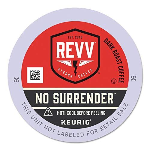 REVV No Surrender, Single-Serve Keurig K-Cup Pods, Dark Roast Coffee, 24 Count