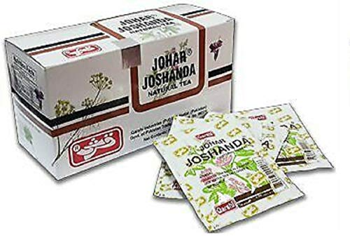 QARSHI JOHAR JOSHANDA Herbal Tea Remedy Cold Flu (Natural Joshanda, 30 Sachets)