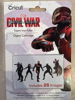 CRICUT DIGITAL CARTRIDGE CIVIL WAR CAPTAIN AMERICA TEAM IRON MAN