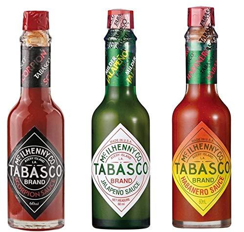 タバスコ スコーピオンソース・ハラペーニョソース・ハバネロソース 瓶 60ml 各1本 3本セット