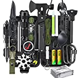 Survival Gear Kit, 21 in 1 Survival Gear and Equipment, Cool Top Gadgets Christmas Birthday Gifts for Men Dad Him Husband Boyfriend Teen Boy Camping Fishing Hunting Hiking
