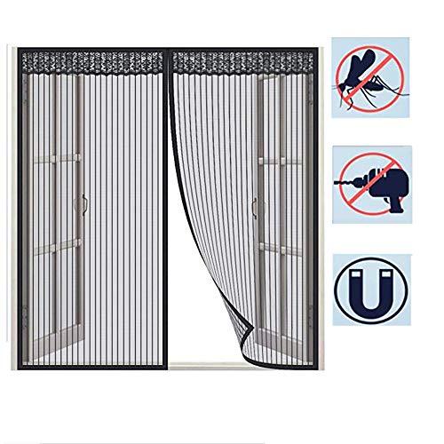 HTDG vliegengaas, magnetisch, verstelbaar, aluminium, vliegengaas voor ramen, buiten, zelfklevend, zonder boren, bescherming tegen insecten en vliegen.